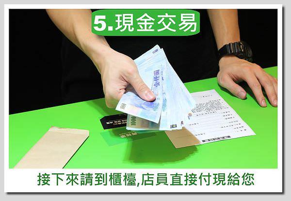 青蘋果-買賣流程圖-商品-5.現金交易